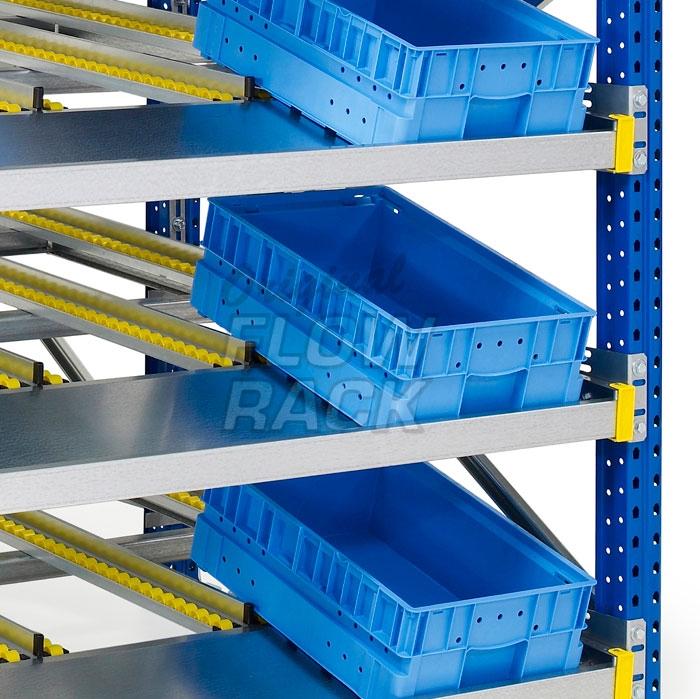 Durchlaufrahmen KLT-Version für Paletteregale einfachtief
