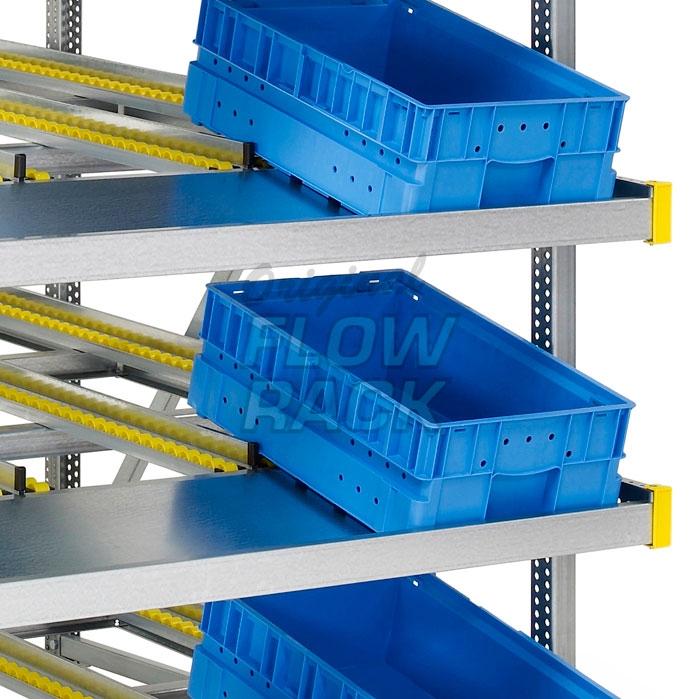 Durchlaufregal KLT-Version Feldweite 1390 mm