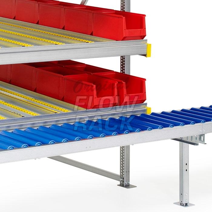 Durchlaufregal mit Rollenbahn und 3 Ebenen
